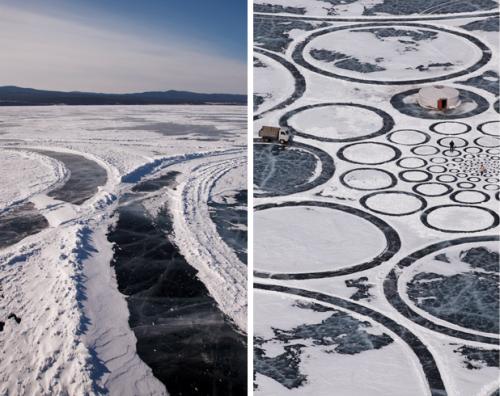 Jim Denevan: Lake Baikal, Siberia